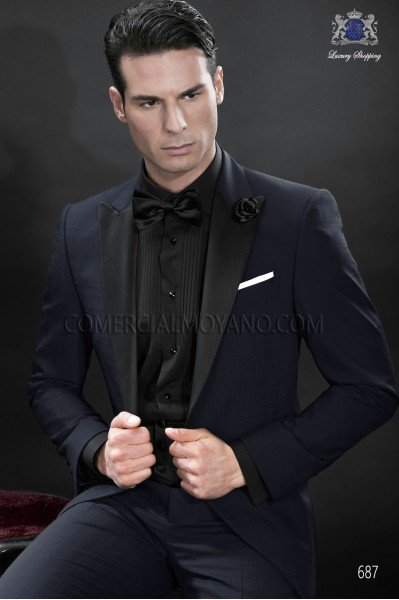 Black satin cummerbund and bow tie 57531-5201-8000 Ottavio Nuccio Gala.