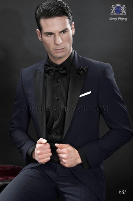 Black satin cummerbund and bow tie 57531-5201-8000 Ottavio Nuccio Gala.