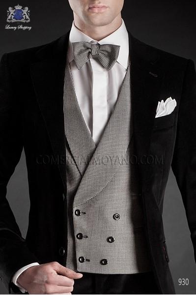 White-black houndstooth bow tie 10272-5344-8100 Ottavio Nuccio Gala.
