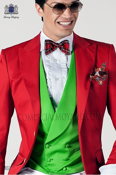 Red tartan plaid silk bow tie 10272-2870-3000 Ottavio Nuccio Gala.