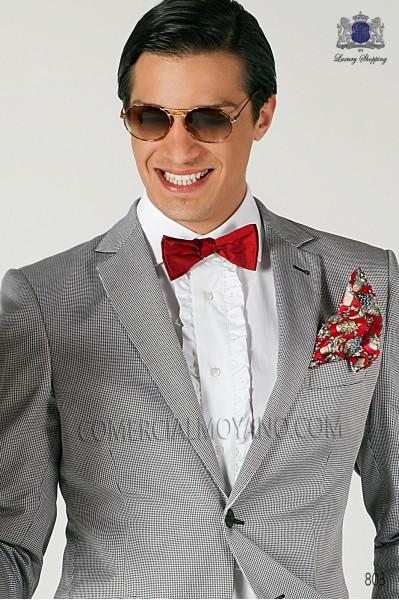 Red silk bow tie 10272-2719-3000 Ottavio Nuccio Gala.