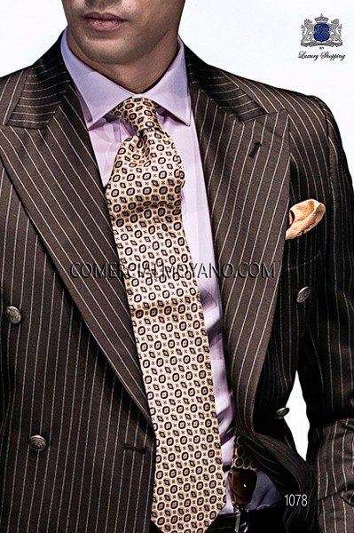 Golden tie with design 10103-9000-2099 Ottavio Nuccio Gala.