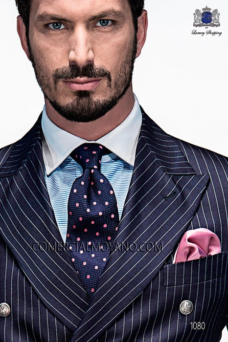 Blue tie with polka dots 10103-9000-5097 Ottavio Nuccio Gala.