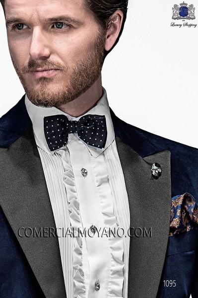 Blue silk handkerchief 15018-9000-5086 Ottavio Nuccio Gala.