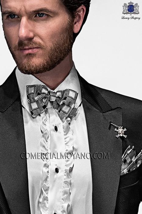 Gray silk handkerchief 15018-2887-8100 Ottavio Nuccio Gala.
