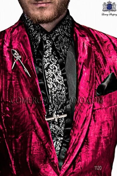Black embroidery tie 10198-4039-8083 Ottavio Nuccio Gala.