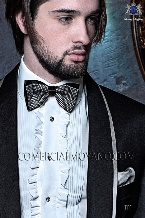 Pearl gray handkerchief 15018-5201-7100 Ottavio Nuccio Gala.