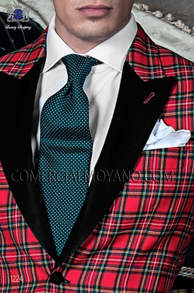 Green silk tie 10103-9000-4099 Ottavio Nuccio Gala.