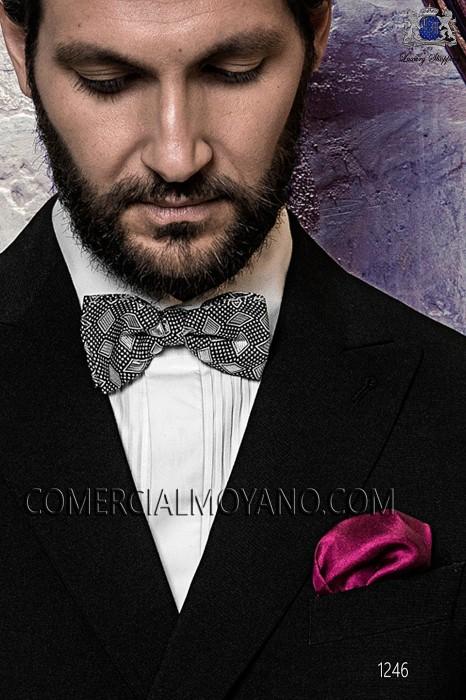 Prune handkerchief 15018-9000-3399 Ottavio Nuccio Gala.