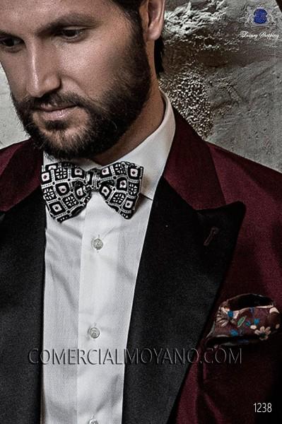 Bordeaux pure silk handkerchief 15018-9000-3199 Ottavio Nuccio Gala.