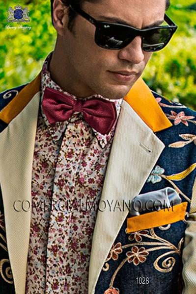 Sky blue satin handkerchief 15018-2640-5500 Ottavio Nuccio Gala.