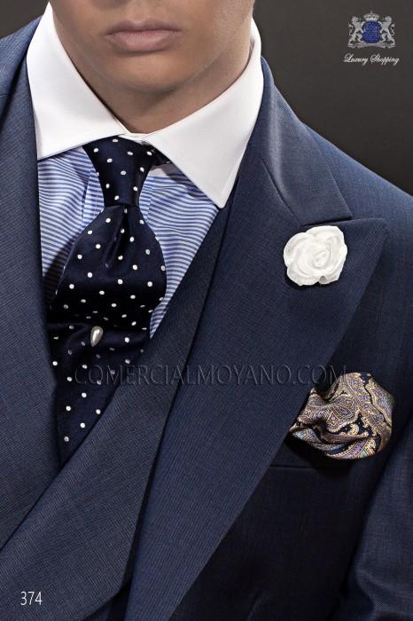 Navy blue tie 10102-2874-5000 Ottavio Nuccio Gala.