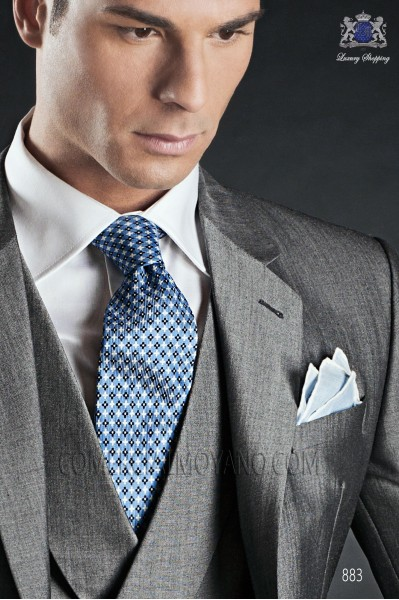 Light blue silk tie 10102-2522-5200 Ottavio Nuccio Gala.