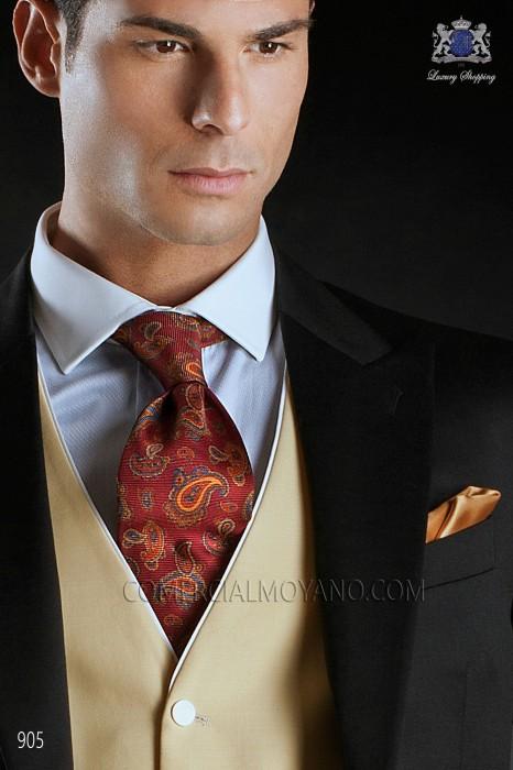 Maroon silk tie 10102-1714-3000 Ottavio Nuccio Gala.