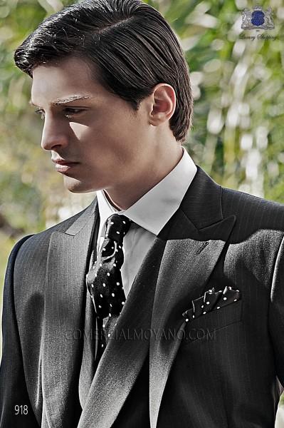 Black tie and handkerchief 56502-2846-8000 Ottavio Nuccio Gala.
