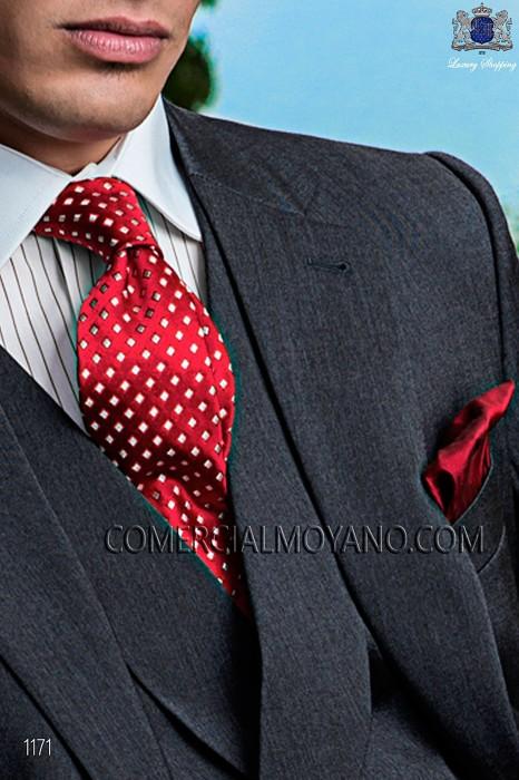 Red silk shantung handkerchief 15018-2719-3000 Ottavio Nuccio Gala.