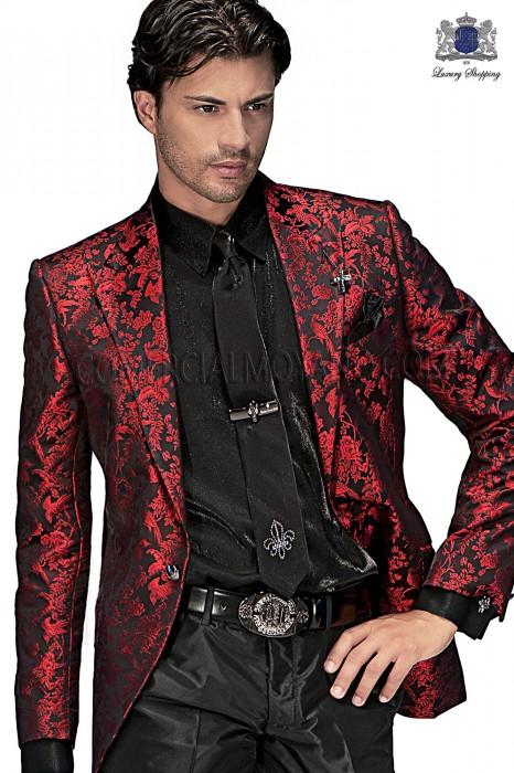 Black lurex tie and handkerchief 56595-2645-8071 Ottavio Nuccio Gala.