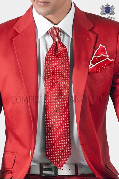 Red jacquard silk tie 10122-2278-3200 Ottavio Nuccio Gala.