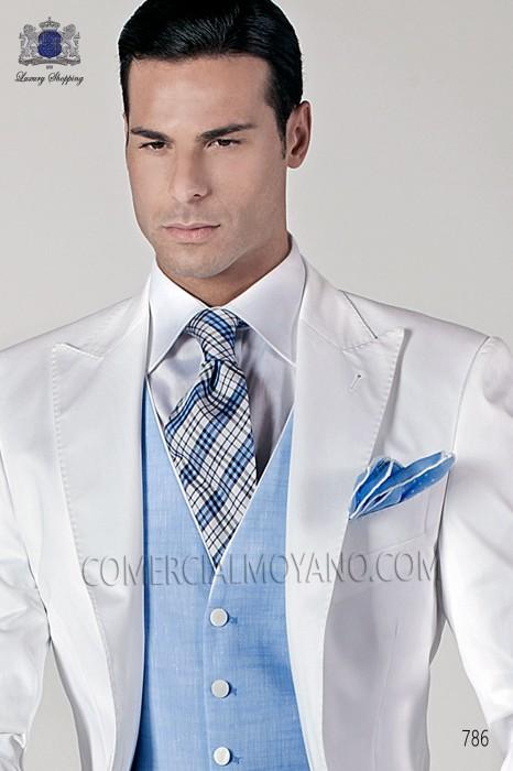 Blue jacquard silk tie 10103-2467-5100 Ottavio Nuccio Gala.