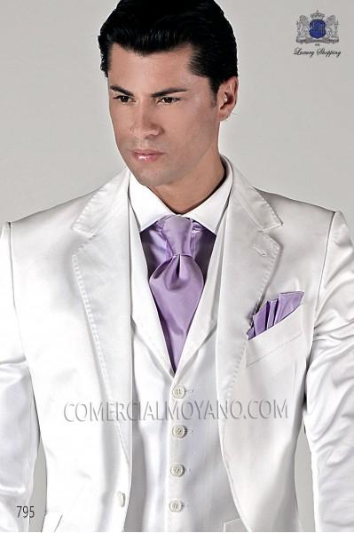 Lilac silk tie and handkerchief 56503-1878-3700 Ottavio Nuccio Gala.