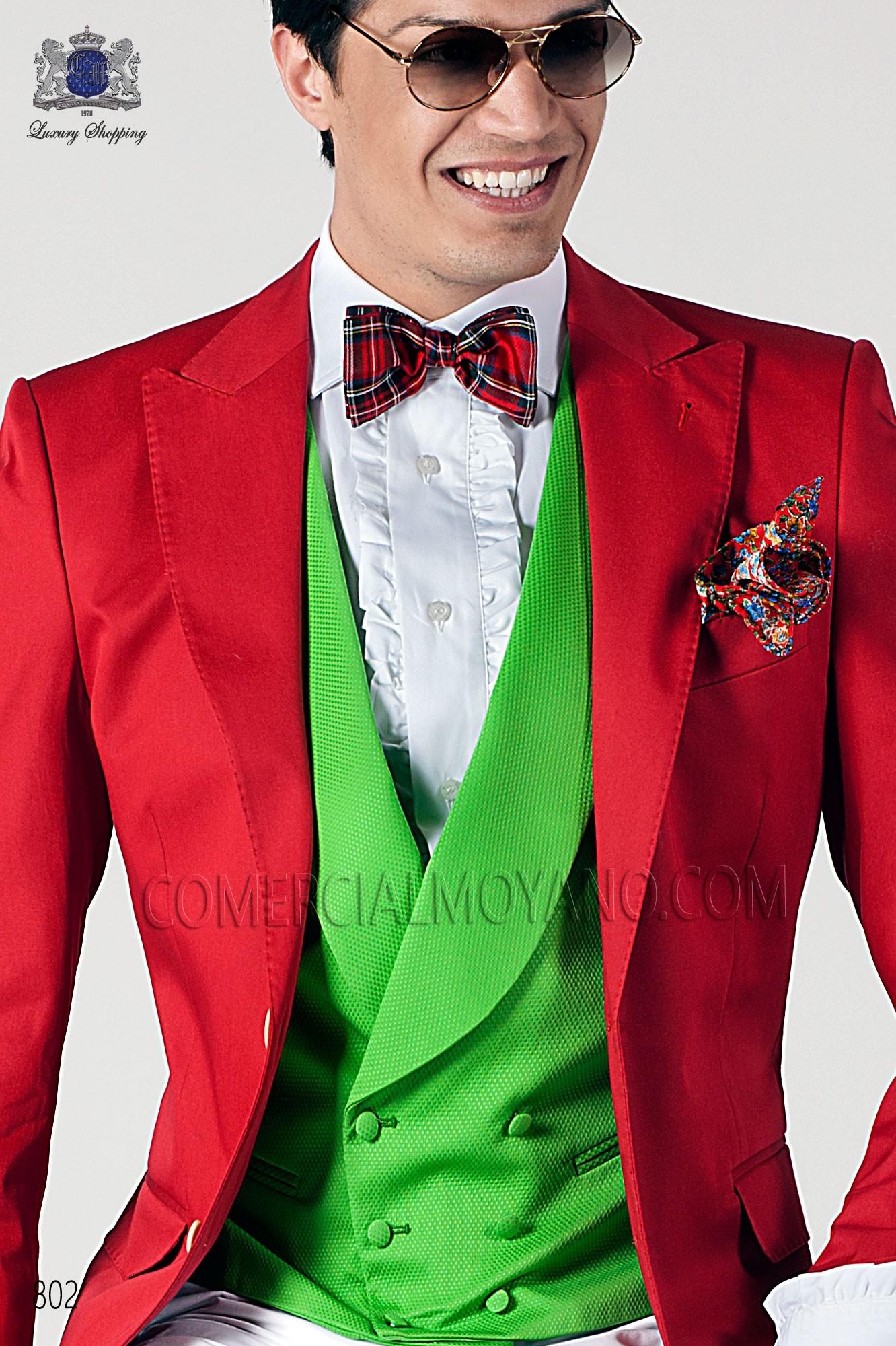 Red silk pocket handkerchief, Ottavio Nuccio Gala.
