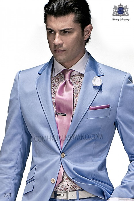 Pink satin tie and handkerchief 56502-2640-3800 Ottavio Nuccio Gala.