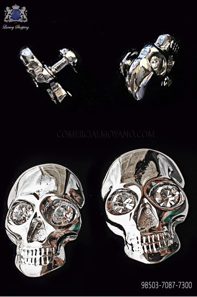 Crystal skull cufflinks 98503-7087-7300 Ottavio Nuccio Gala.
