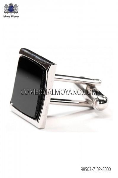 Black square cufflinks 98503-7102-8000 Ottavio Nuccio Gala.