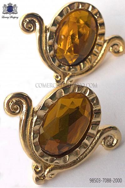 Gold-tone drop cufflinks 98503-7088-2000 Ottavio Nuccio Gala.