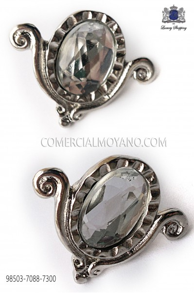 Nickel-tone drop cufflinks 98503-7088-7300 Ottavio Nuccio Gala.