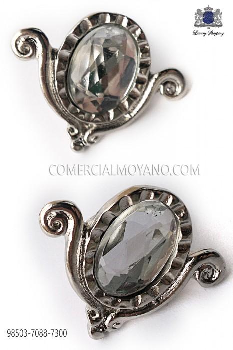 Nickel-tone drop cufflinks 98503-7088-7300 Ottavio Nuccio Gala.