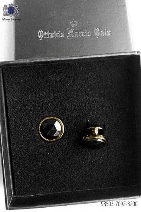 Black crystal studs 98503-7092-8000 Ottavio Nuccio Gala.