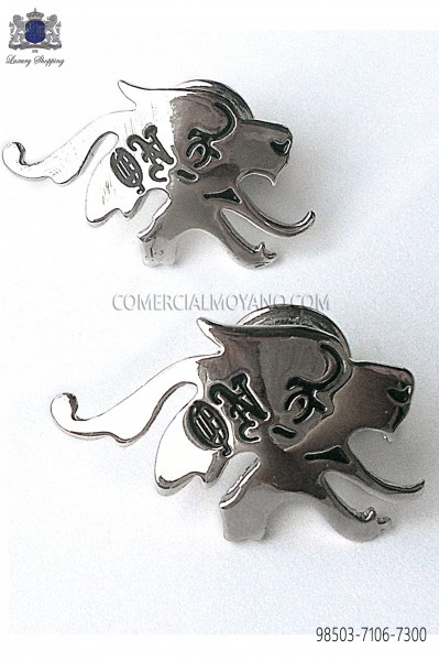 Silver skull cufflinks 98503-7106-7300 Ottavio Nuccio Gala.