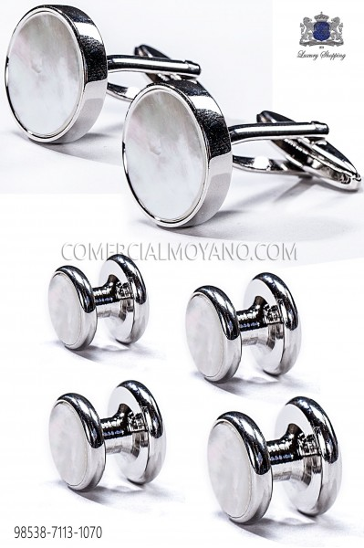 Set buttons and cufflinks mother of pearl 98538-7113-1070 Ottavio Nuccio Gala.
