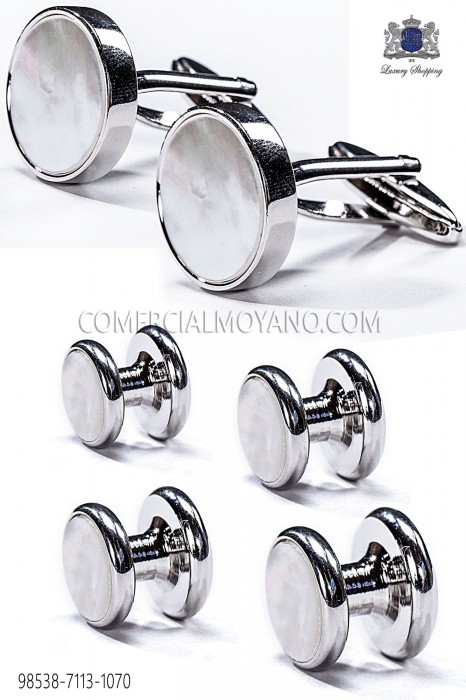 Set buttons and cufflinks mother of pearl 98538-7113-1070 Ottavio Nuccio Gala.