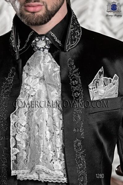 White foulard with handkerchief 56543-2753-1000 Ottavio Nuccio Gala.
