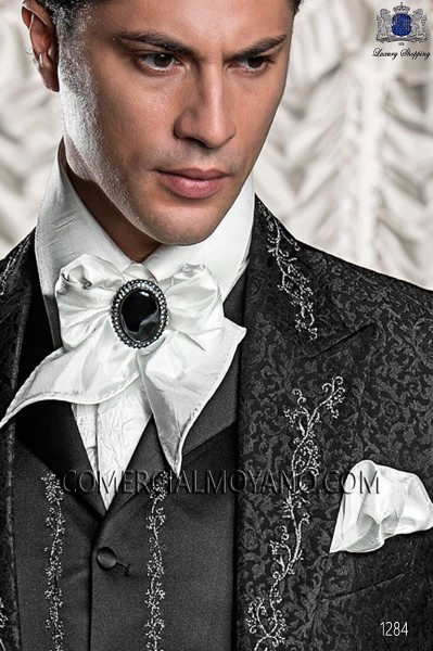 Foulard with handkerchief in white crushed fabric 56534-4033-1100 Ottavio Nuccio Gala.