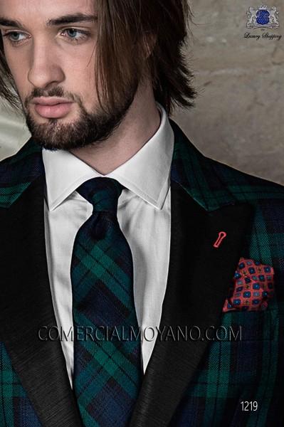 Red pure silk handkerchief 15018-9000-3098 Ottavio Nuccio Gala.