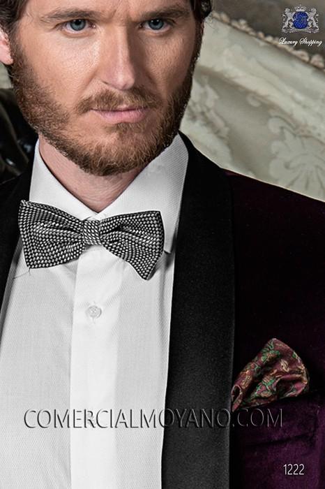 Maroon pure silk handkerchief 15018-9000-3197 Ottavio Nuccio Gala.