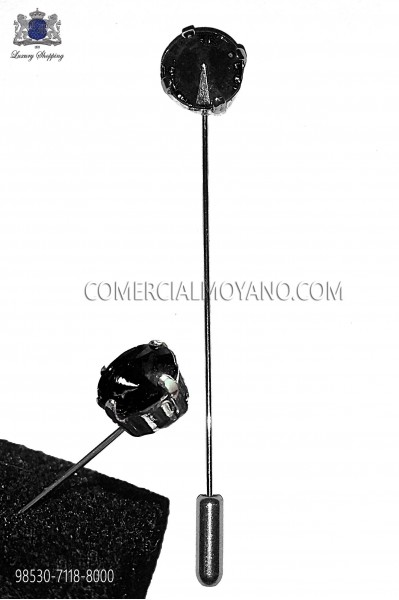Black crystal pin 98530-7118-8000 Ottavio Nuccio Gala.