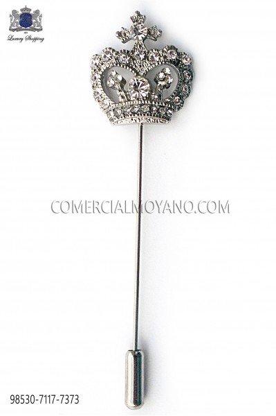 Alfiler corona con cristal strass 98530-7117-7373 Ottavio Nuccio Gala.