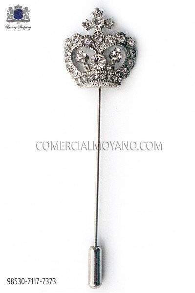 Crown crystal rhinestone pin 98530-7117-7373 Ottavio Nuccio Gala.