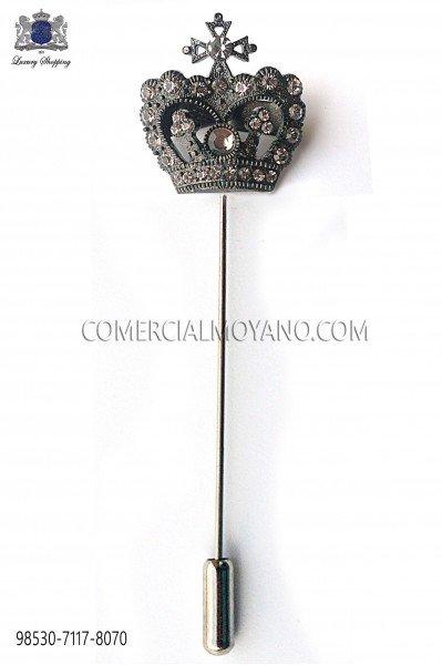 Alfiler corona con cristal fumé 98530-7117-8070 Ottavio Nuccio Gala
