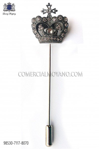 Crown fume crystal pin 98530-7117-8070 Ottavio Nuccio Gala