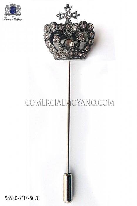 Crown fume crystal pin 98530-7117-8070 Ottavio Nuccio Gala