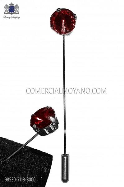 Alfiler con strass cristal rubí 98530-7118-3000 Ottavio Nuccio Gala.