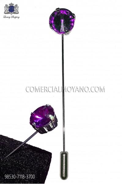 Amethyst crystal rhinestone pin 98530-7118-3700 Ottavio Nuccio Gala.