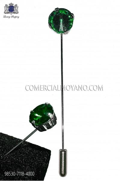 Alfiler con strass cristal esmeralda 98530-7118-4000 Ottavio Nuccio Gala.
