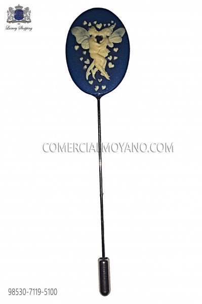 Alfiler camafeo coral azul 98530-7119-5100 Ottavio Nuccio Gala.