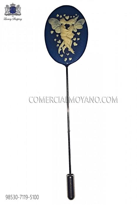 Coral blue cameo pin 98530-7119-5100 Ottavio Nuccio Gala.
